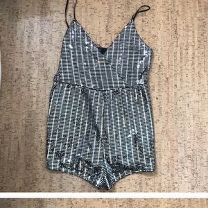 Sequin Romper with Adjustable Straps
